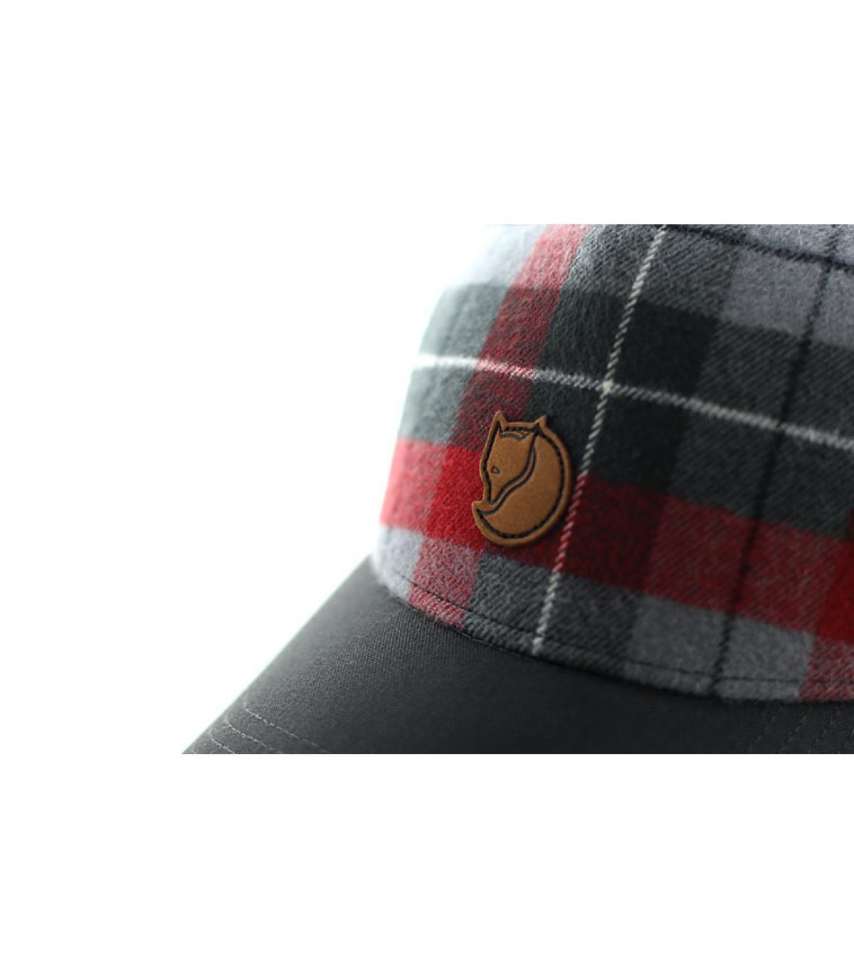 Détails Ovik plaid cap dark grey - image 3