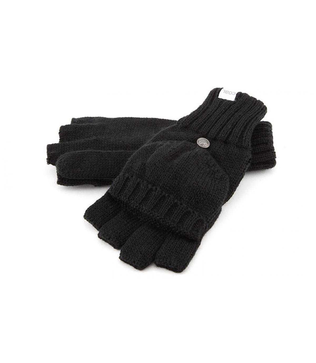 Gants mitaine noir