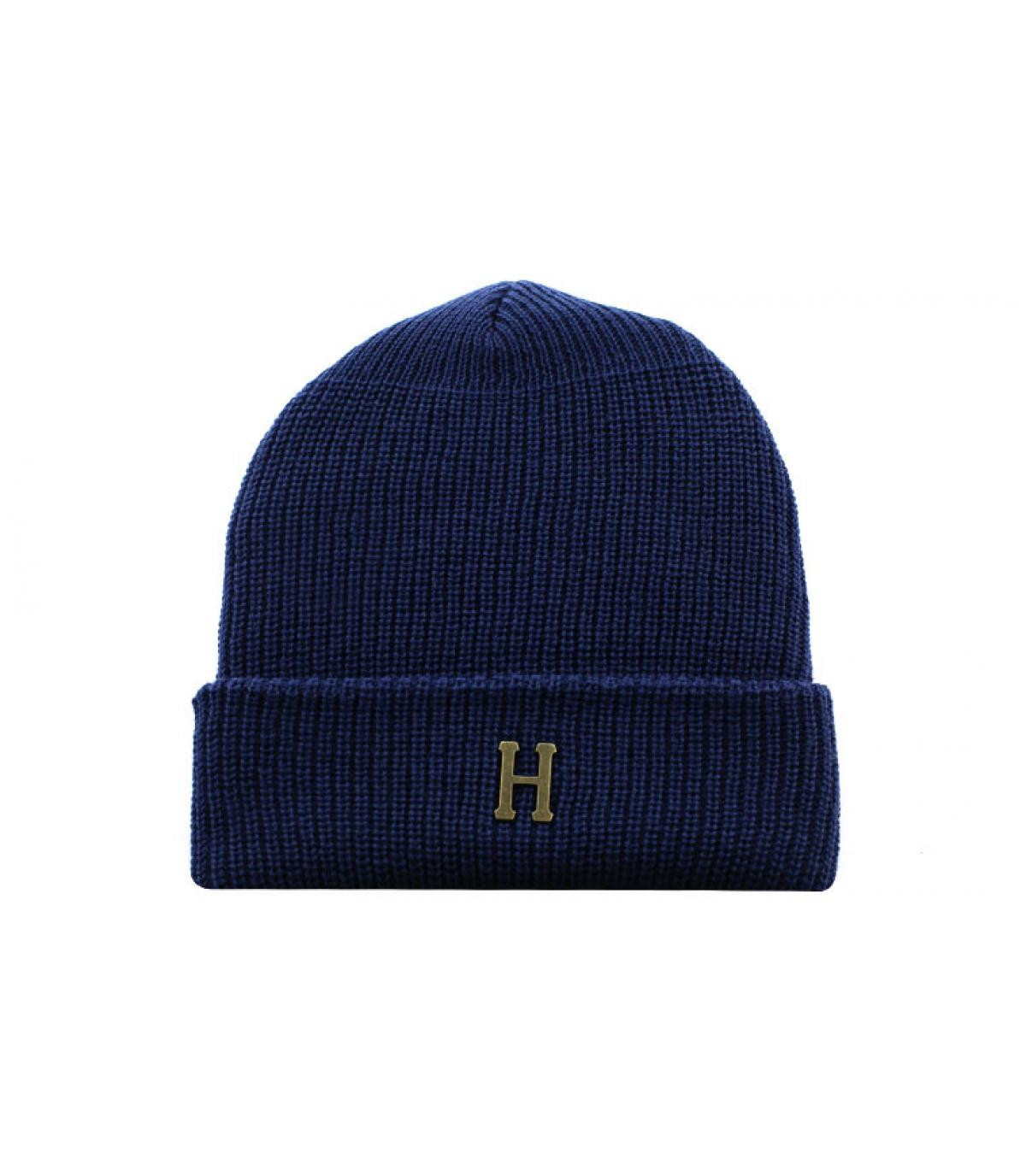 Détails Brass H Military Beanie navy - image 2