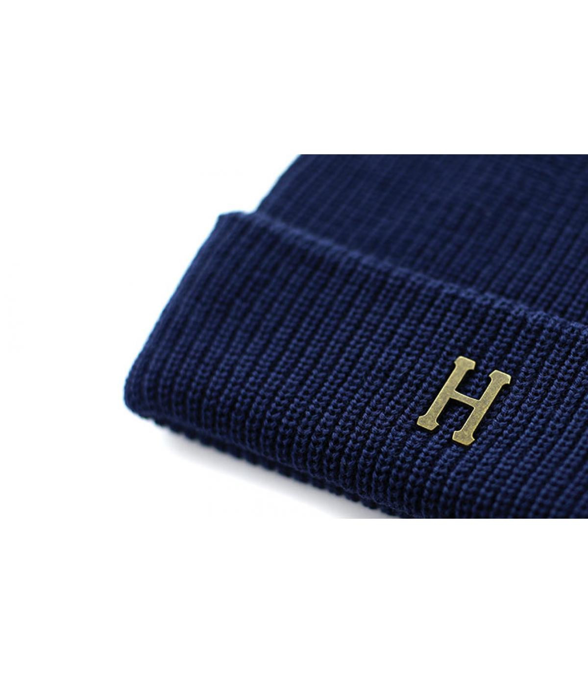 Détails Brass H Military Beanie navy - image 3