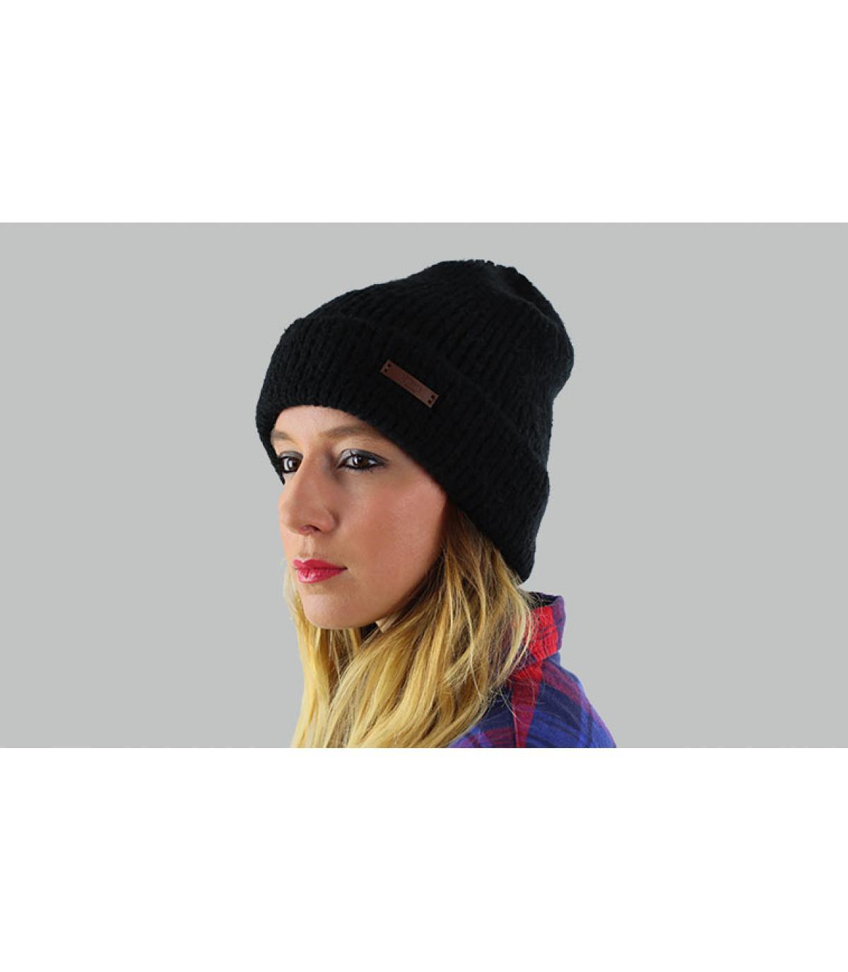 bonnet noir revers barts
