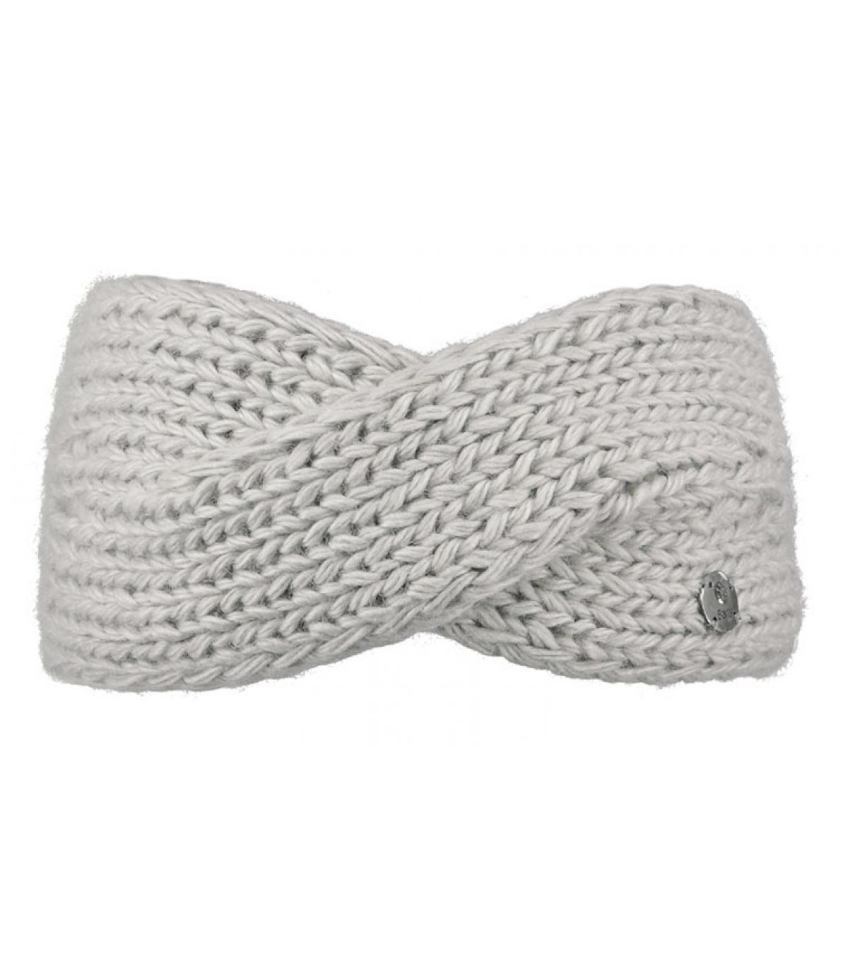 bandeau laine gris croisé
