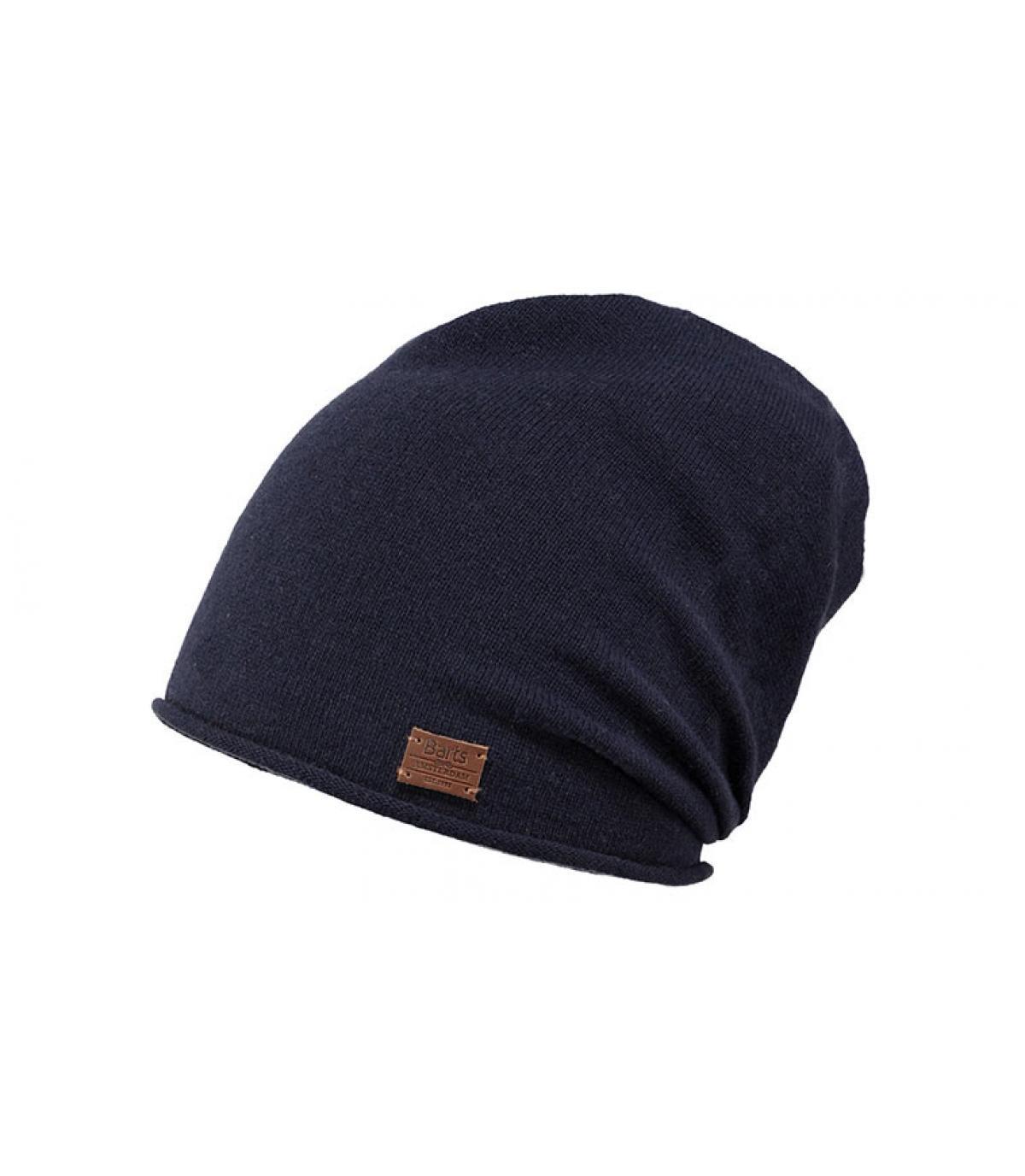 bonnet long cachemire bleu