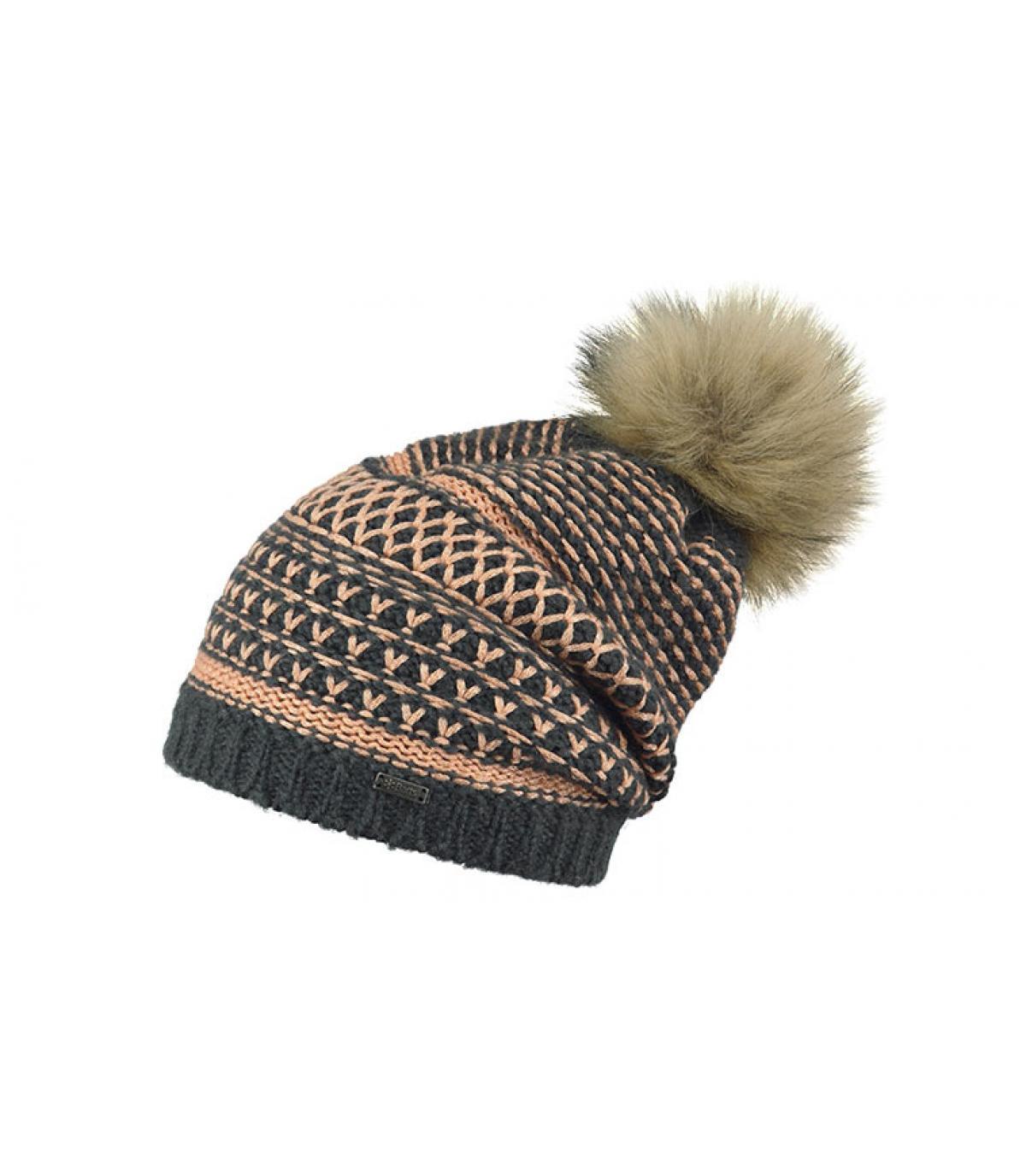 bonnet noir corail
