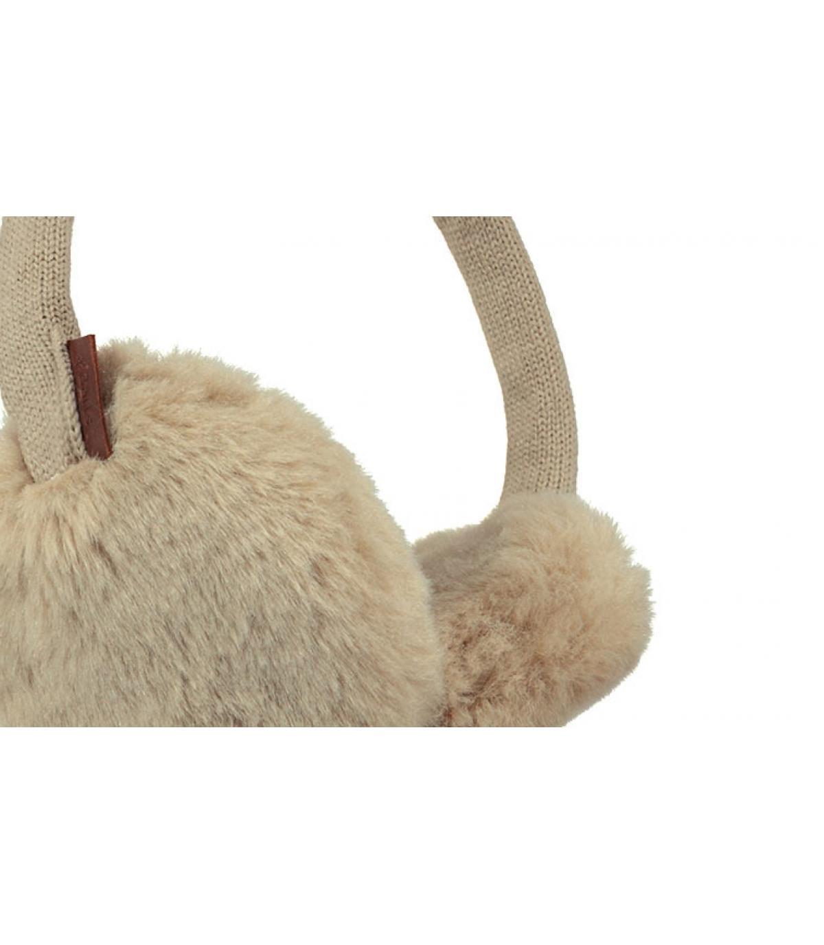 Détails Plush Earmuffs taupe - image 3