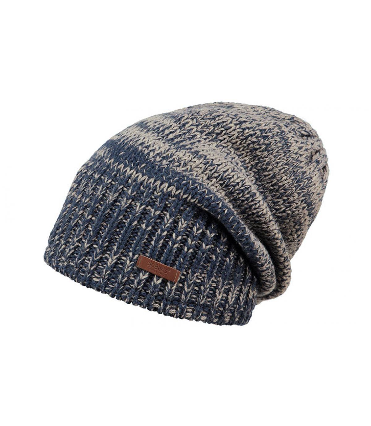 bonnet long bleu gris Barts