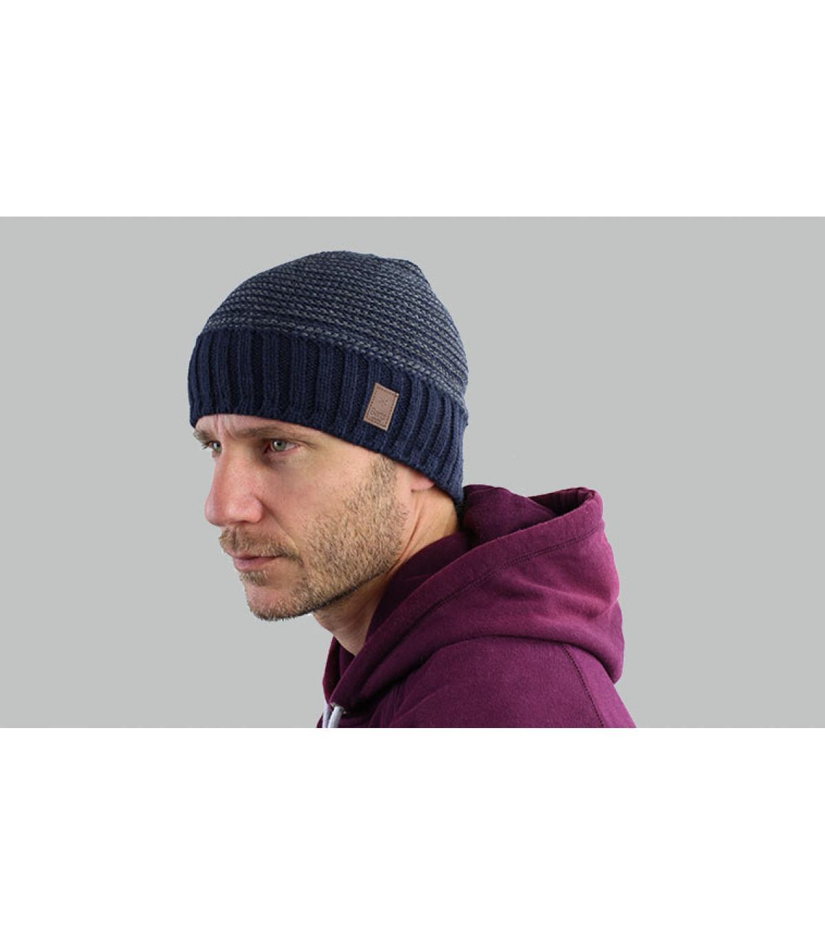 bonnet rayures bleu Barts