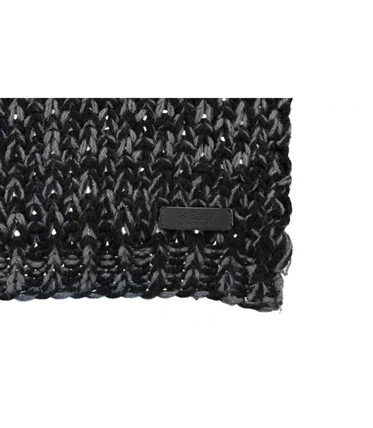 écharpe rayée noir gris