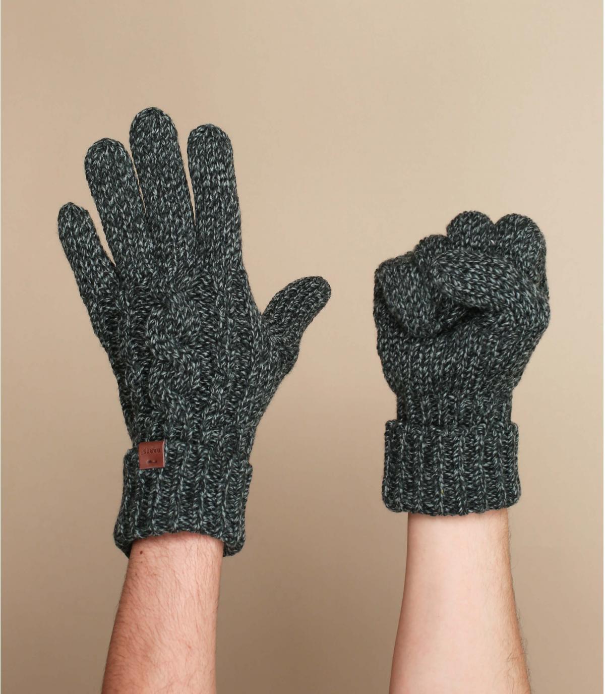 gants torsade noir Barts