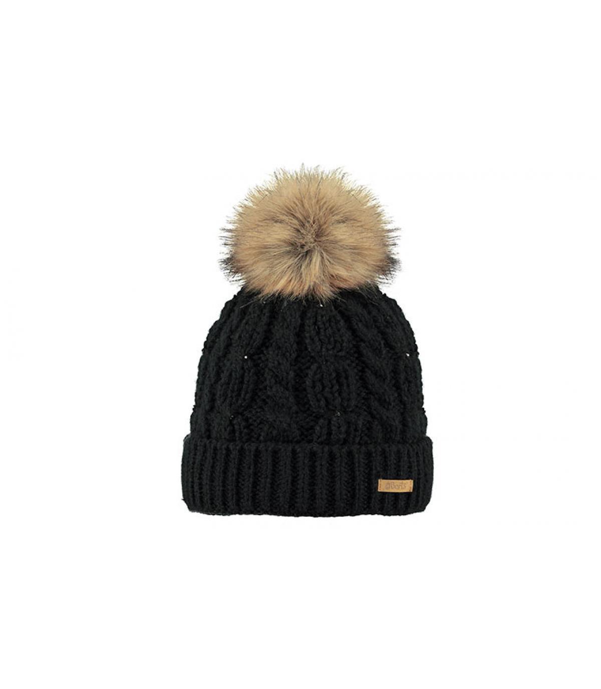 da990b2668f ... bonnet torsade noir fille - Lux Beanie Girls black Barts - image 2 ...