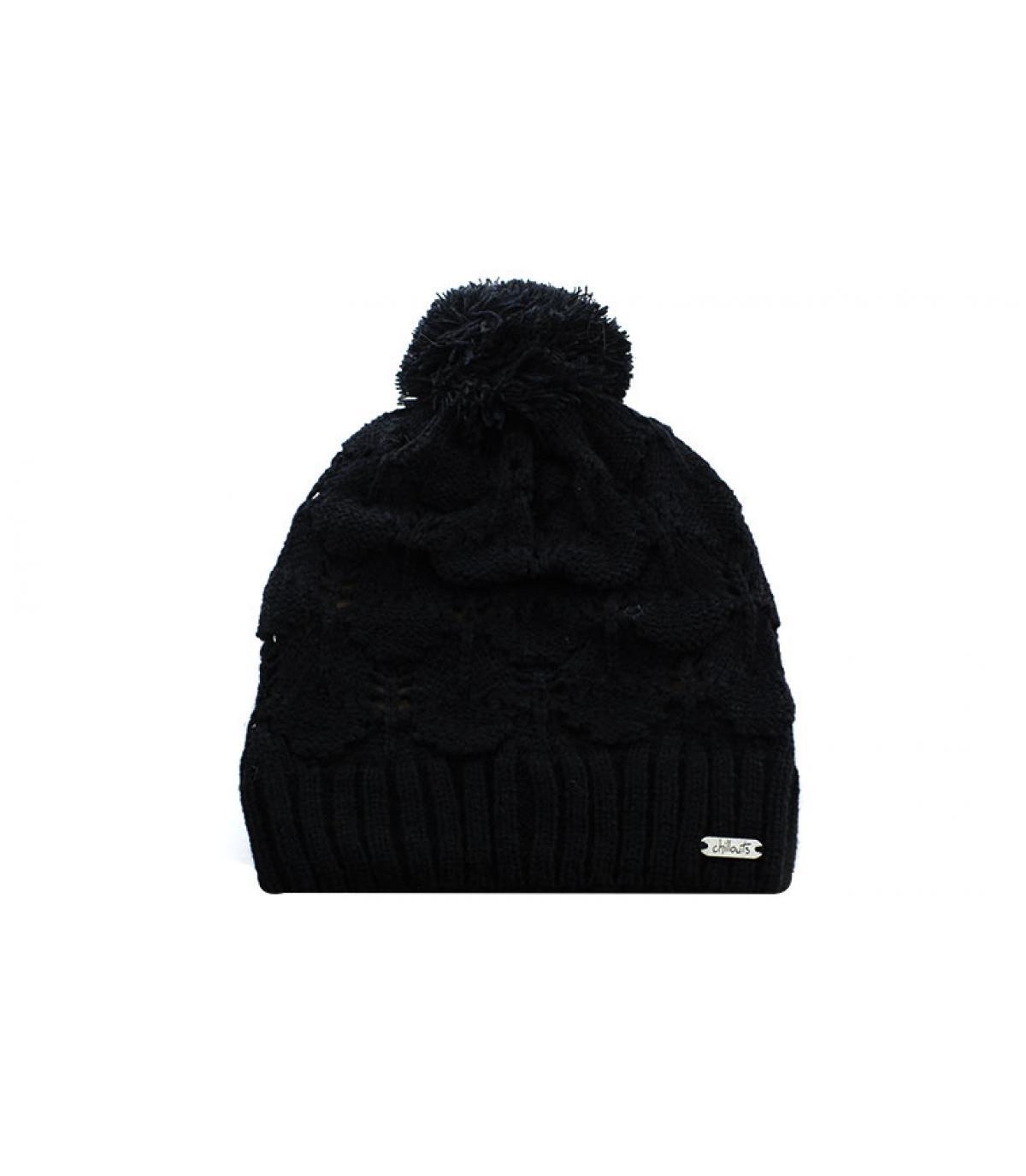 bonnet pompon noir Chillouts