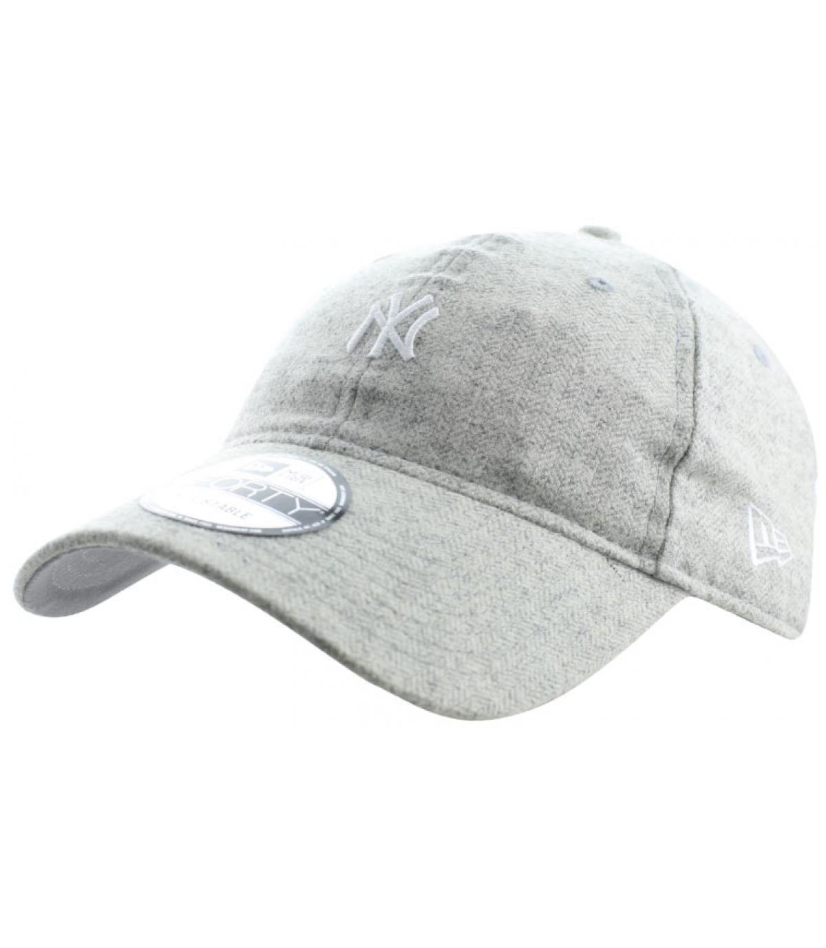 casquette NY chevrons gris