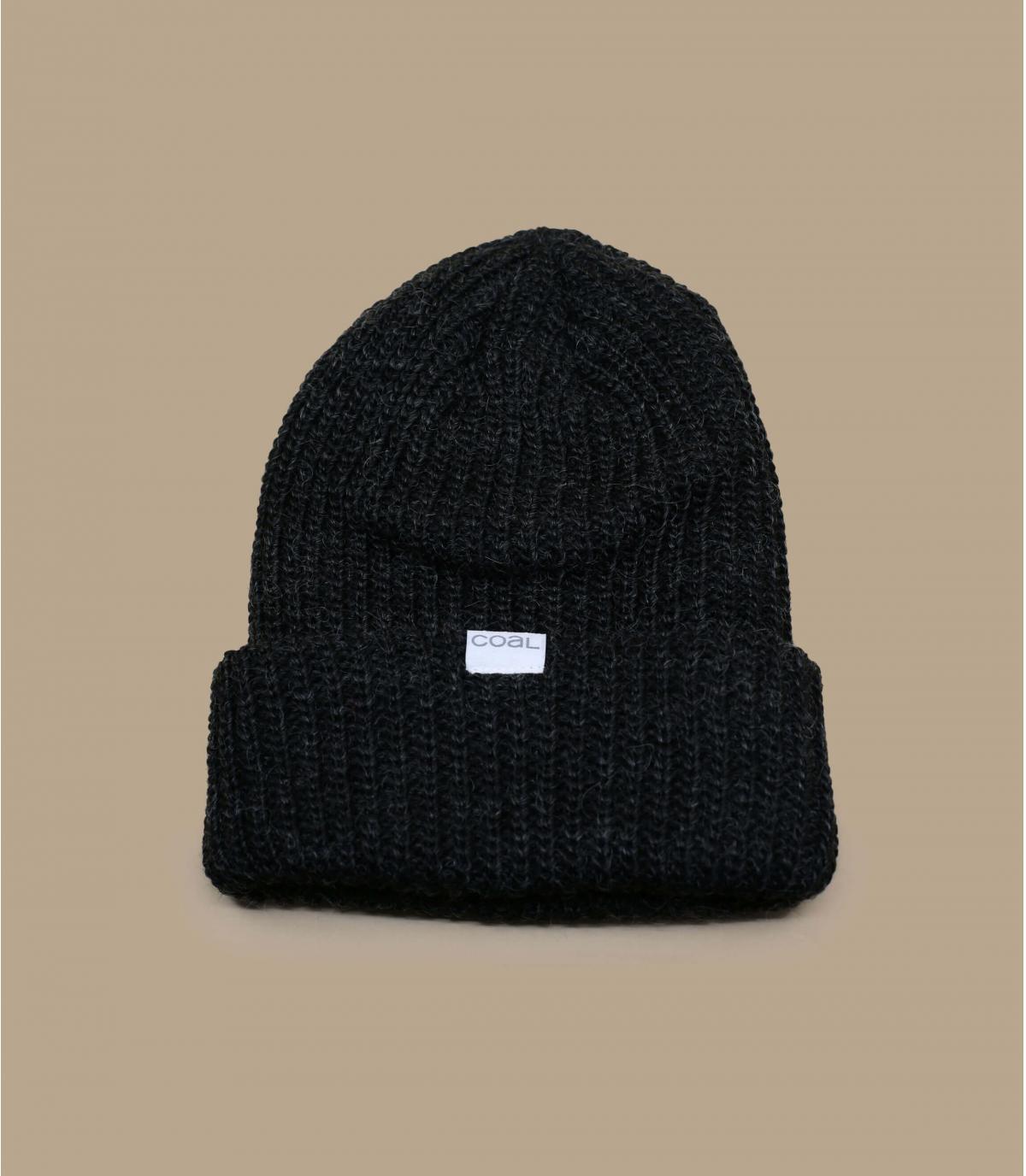 bonnet mohair noir Coal