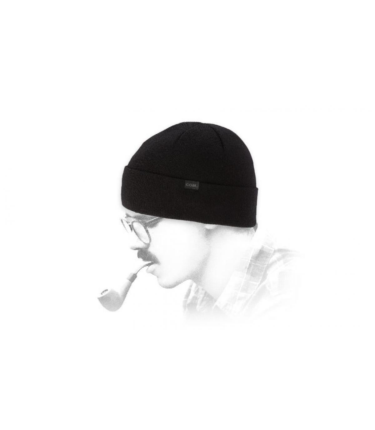 bonnet mérinos noir Coal