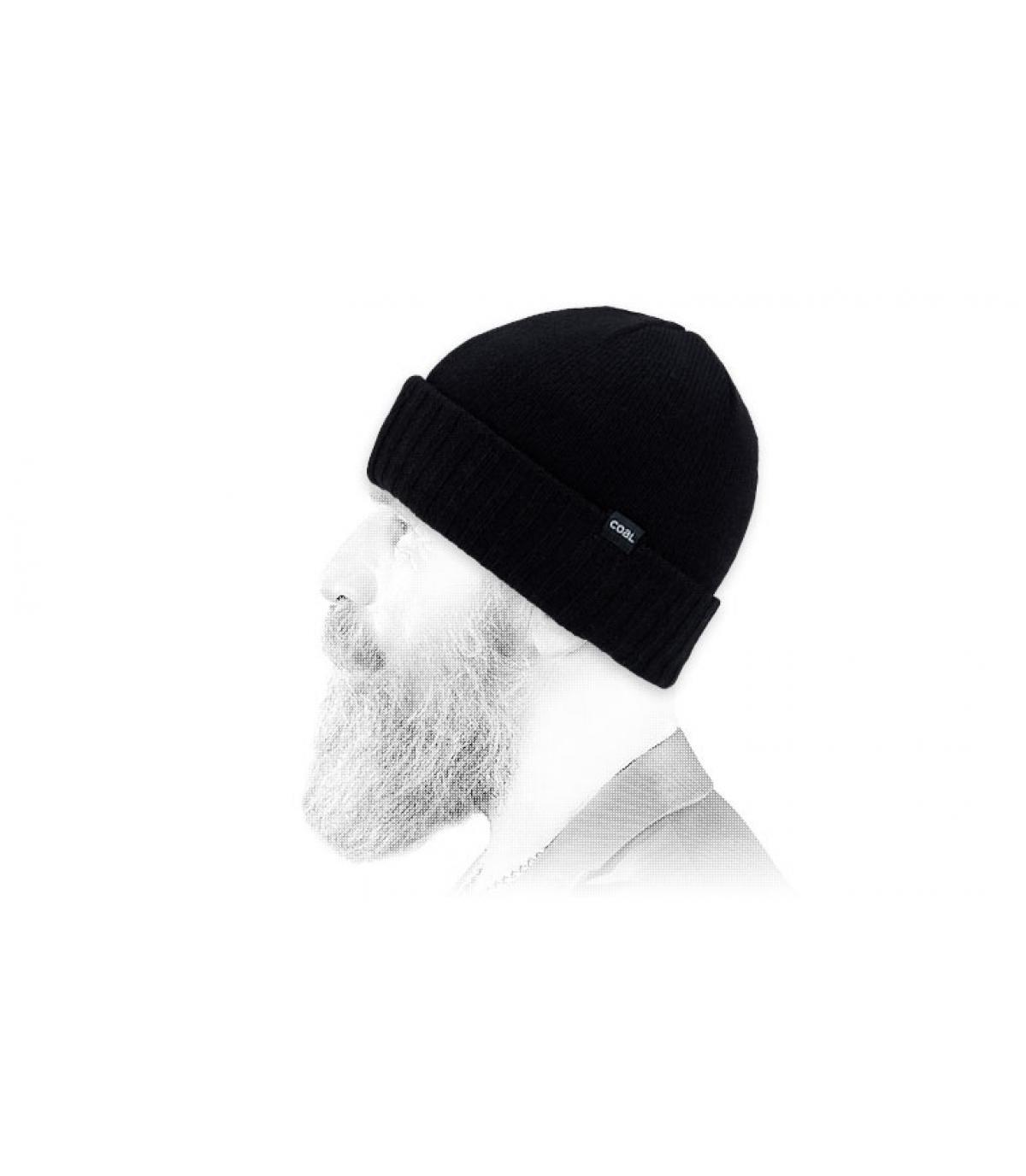 bonnet laine noir Coal