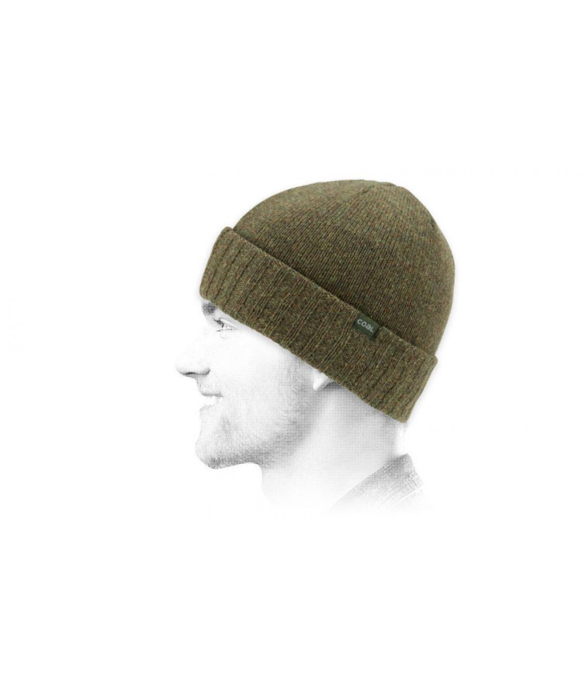 bonnet laine vert Coal