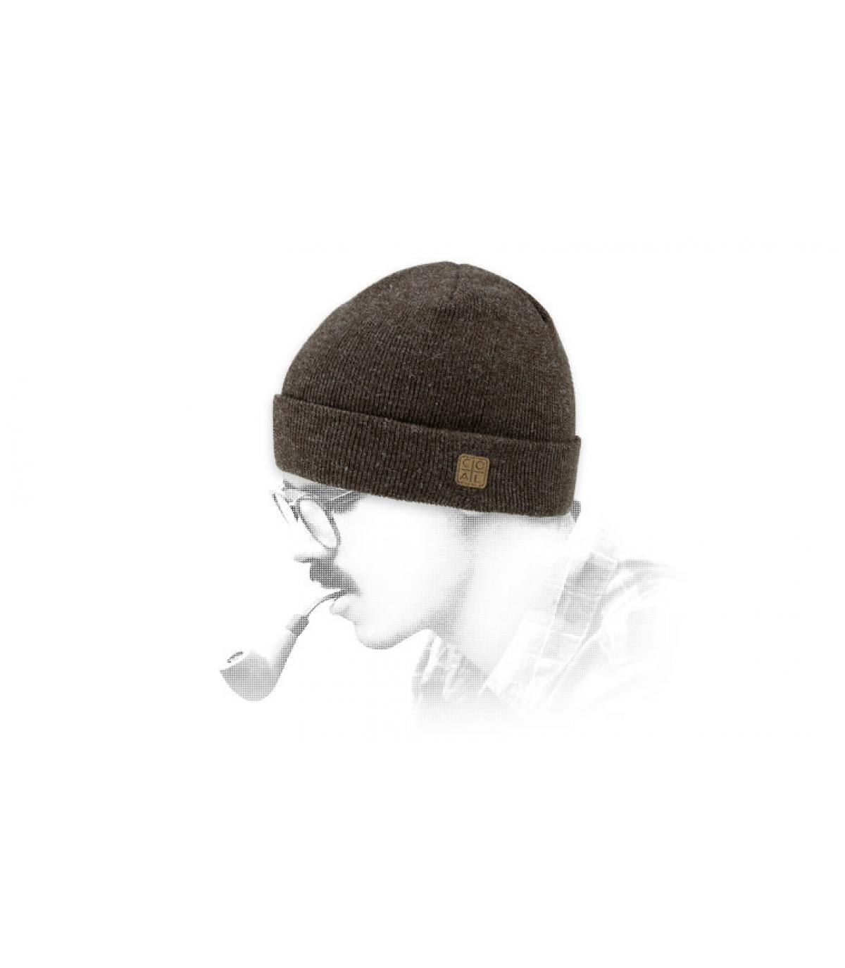 bonnet revers marron Coal