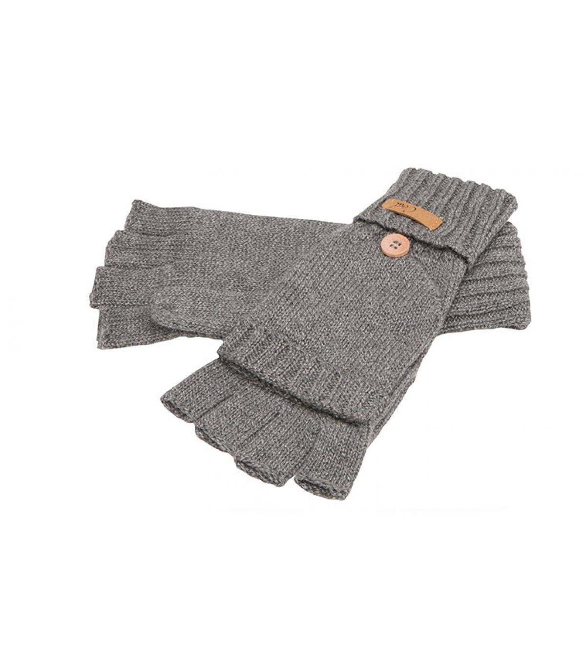 gants moufles gris