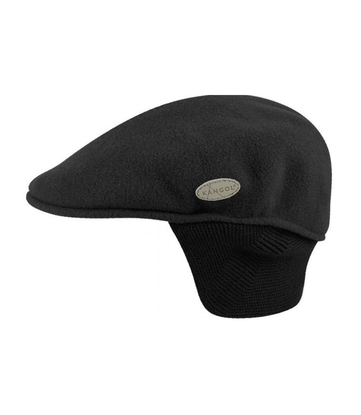Détails 504 wool earflap noir - image 3