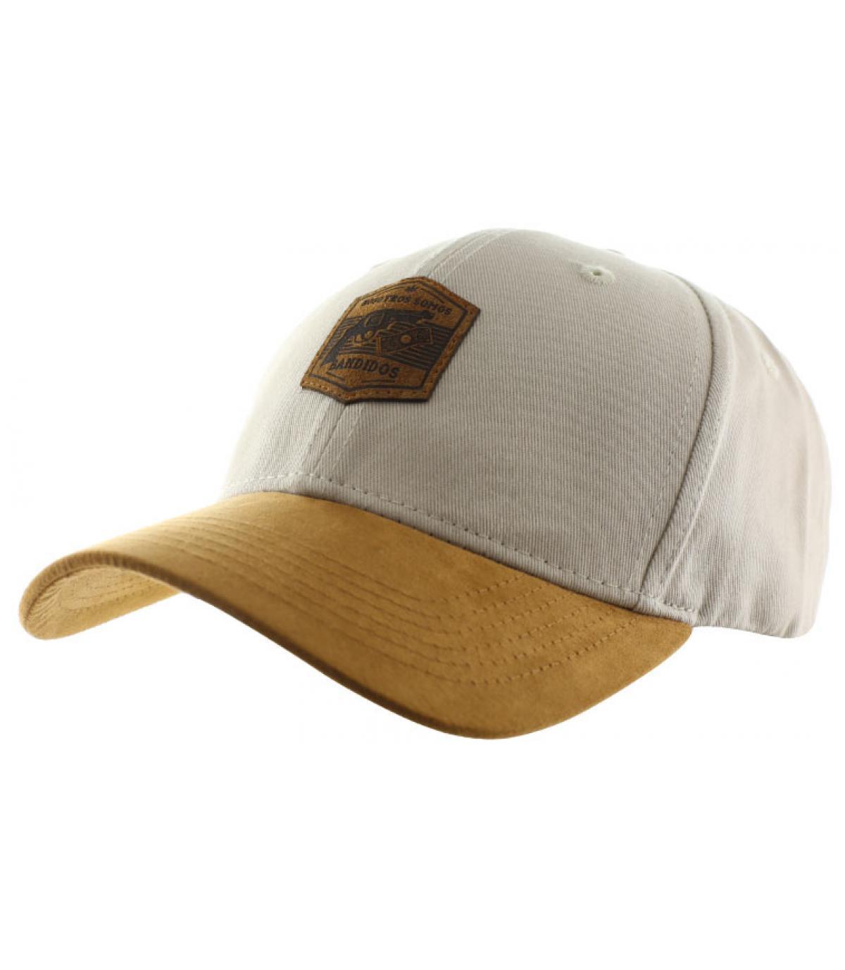 casquette Bandidos beige suède