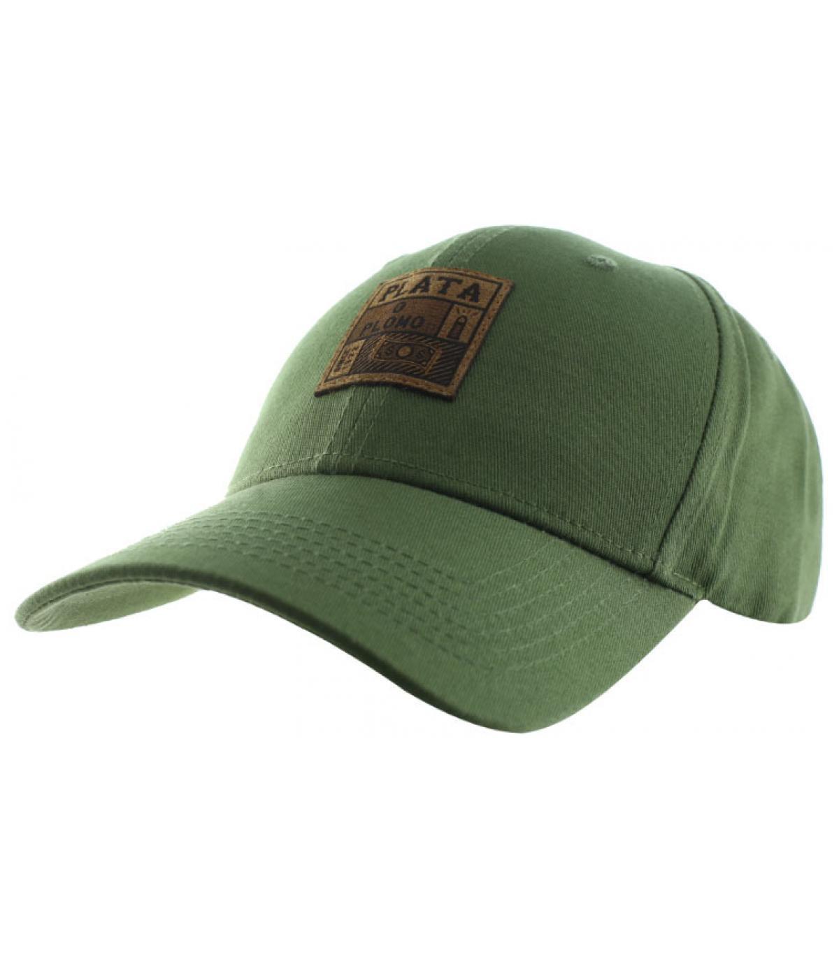 casquette plata o plomo vert