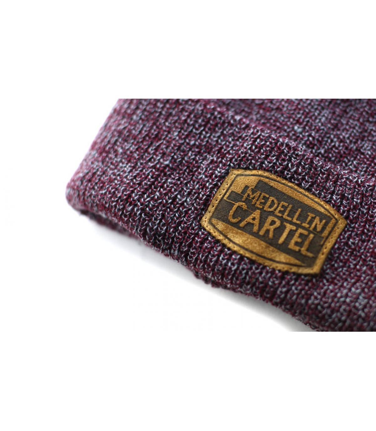 Détails Bonnet Medellin Cartel burgundy heather - image 3