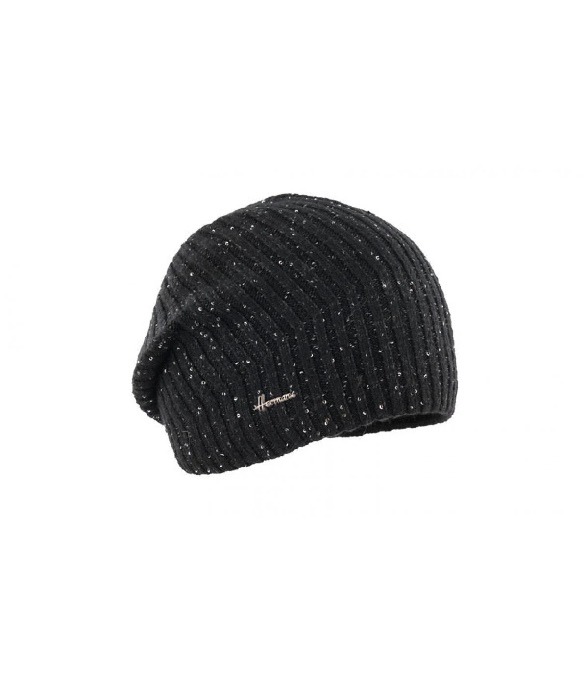 bonnet long noir brillant