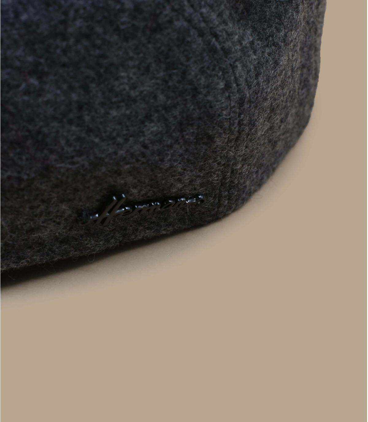 béret gris laine cache-oreille