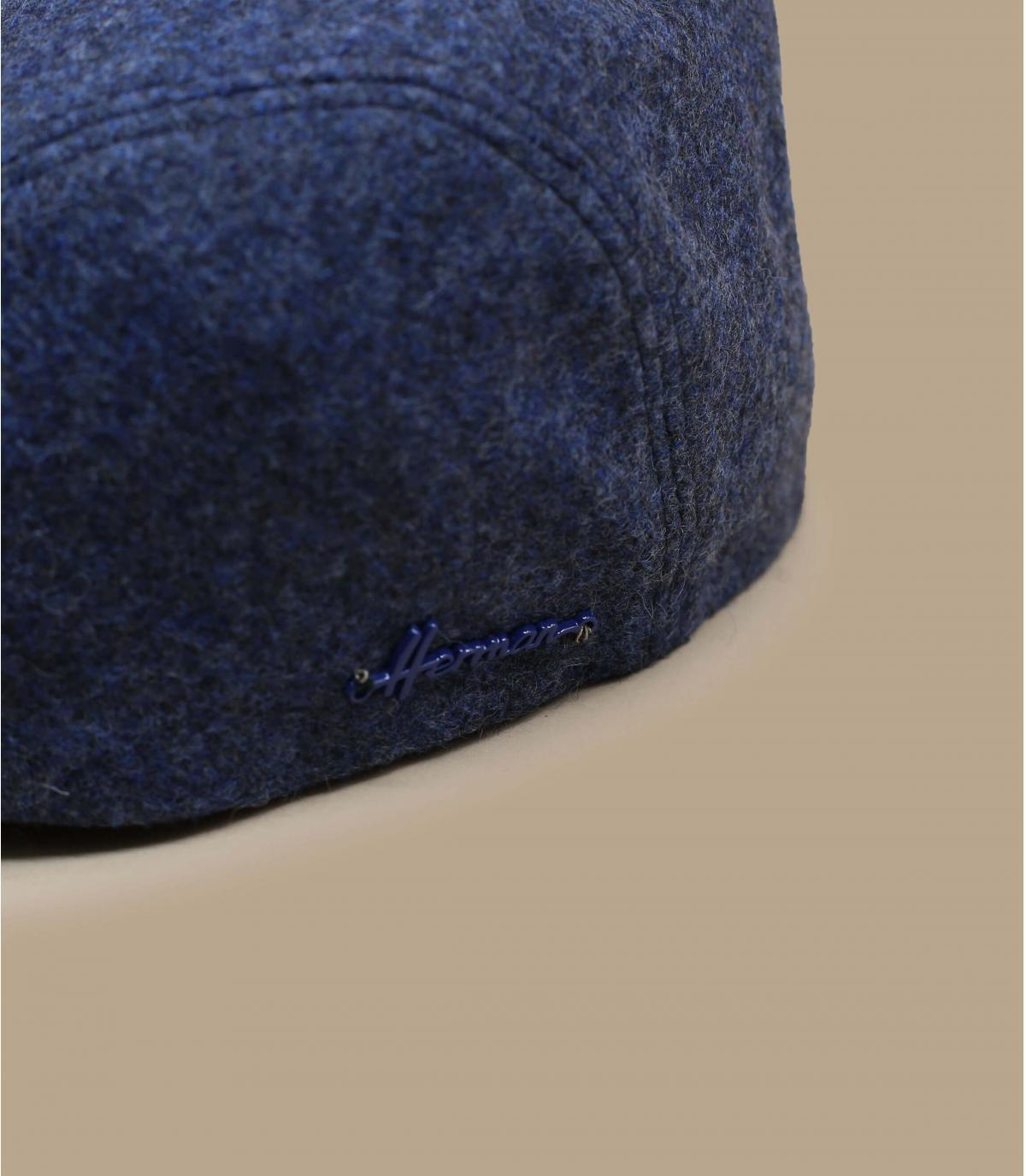 béret bleu laine cache-oreille