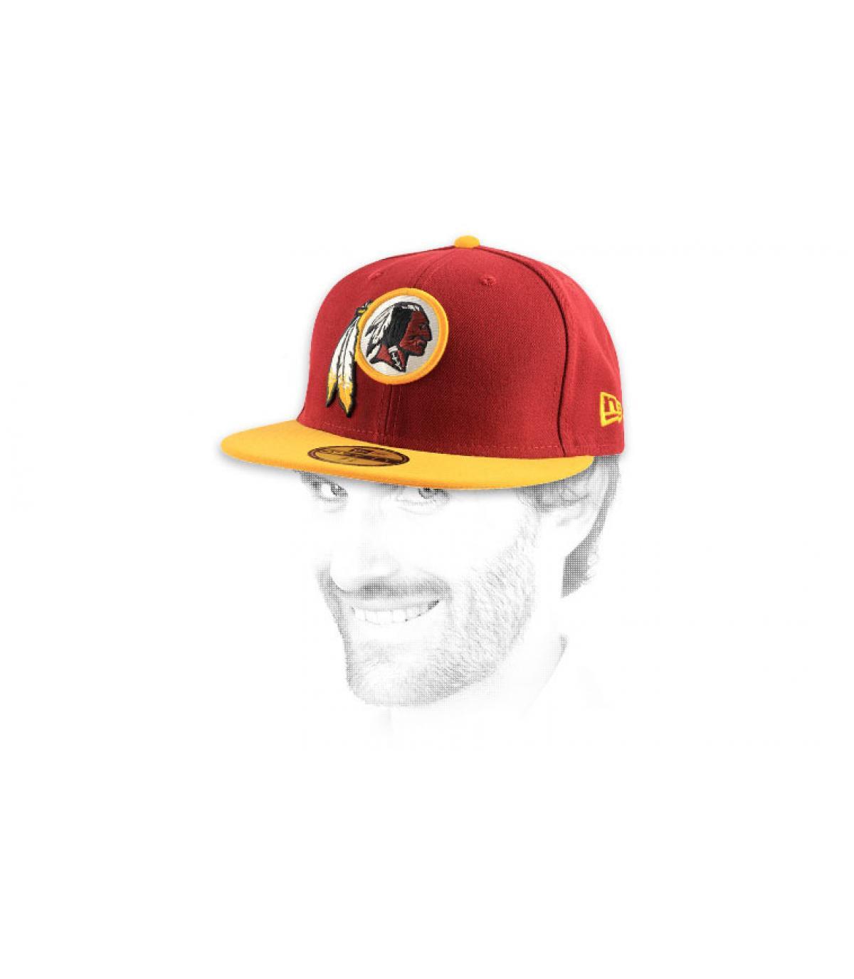 Détails Casquette Redskins 59fifty rouge - image 6