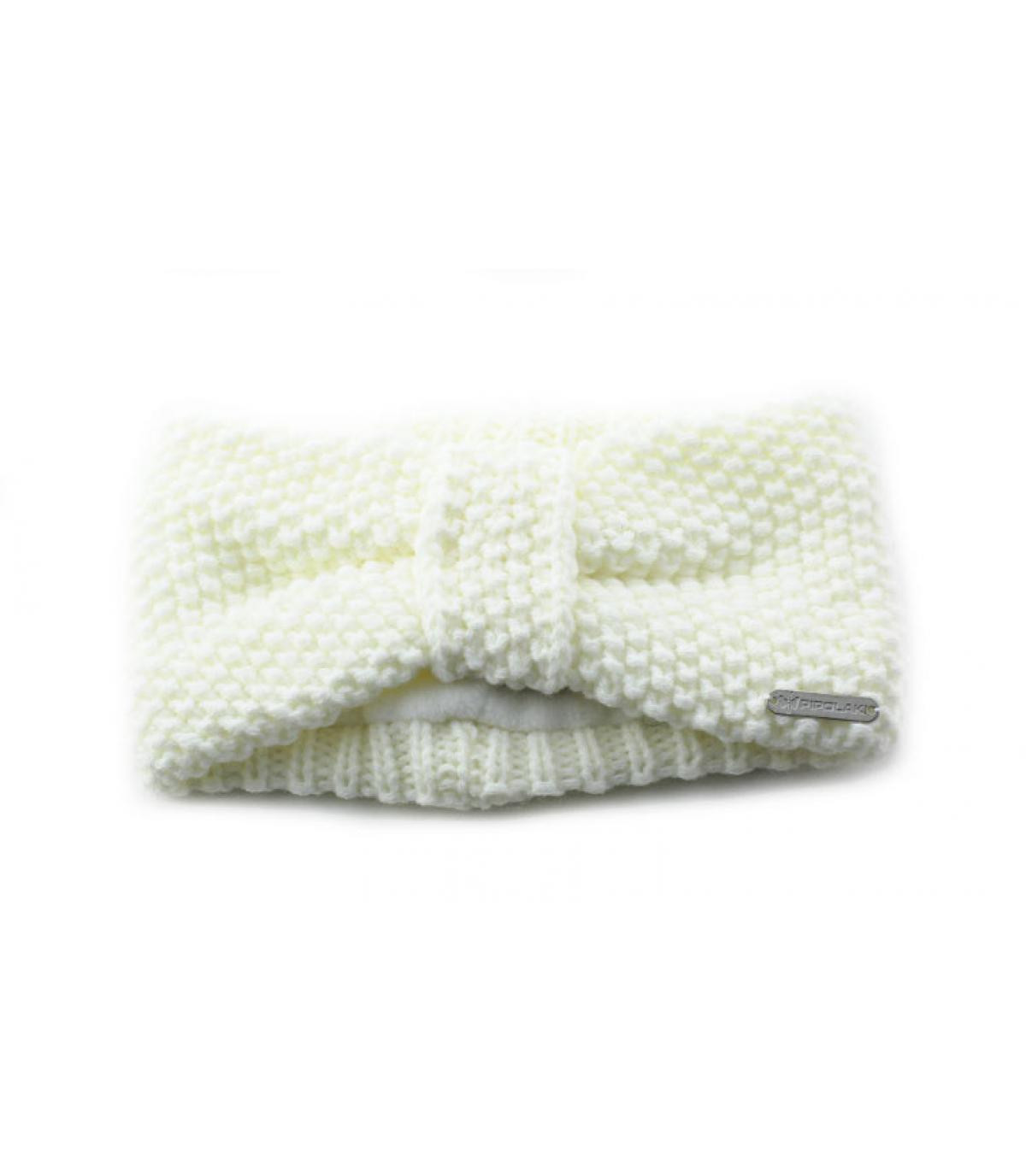 bandeau tricot blanc