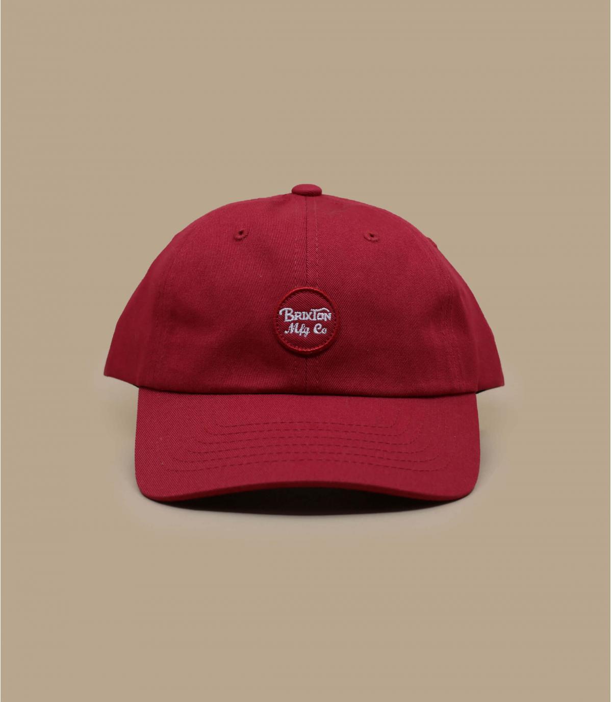 casquette curve rouge