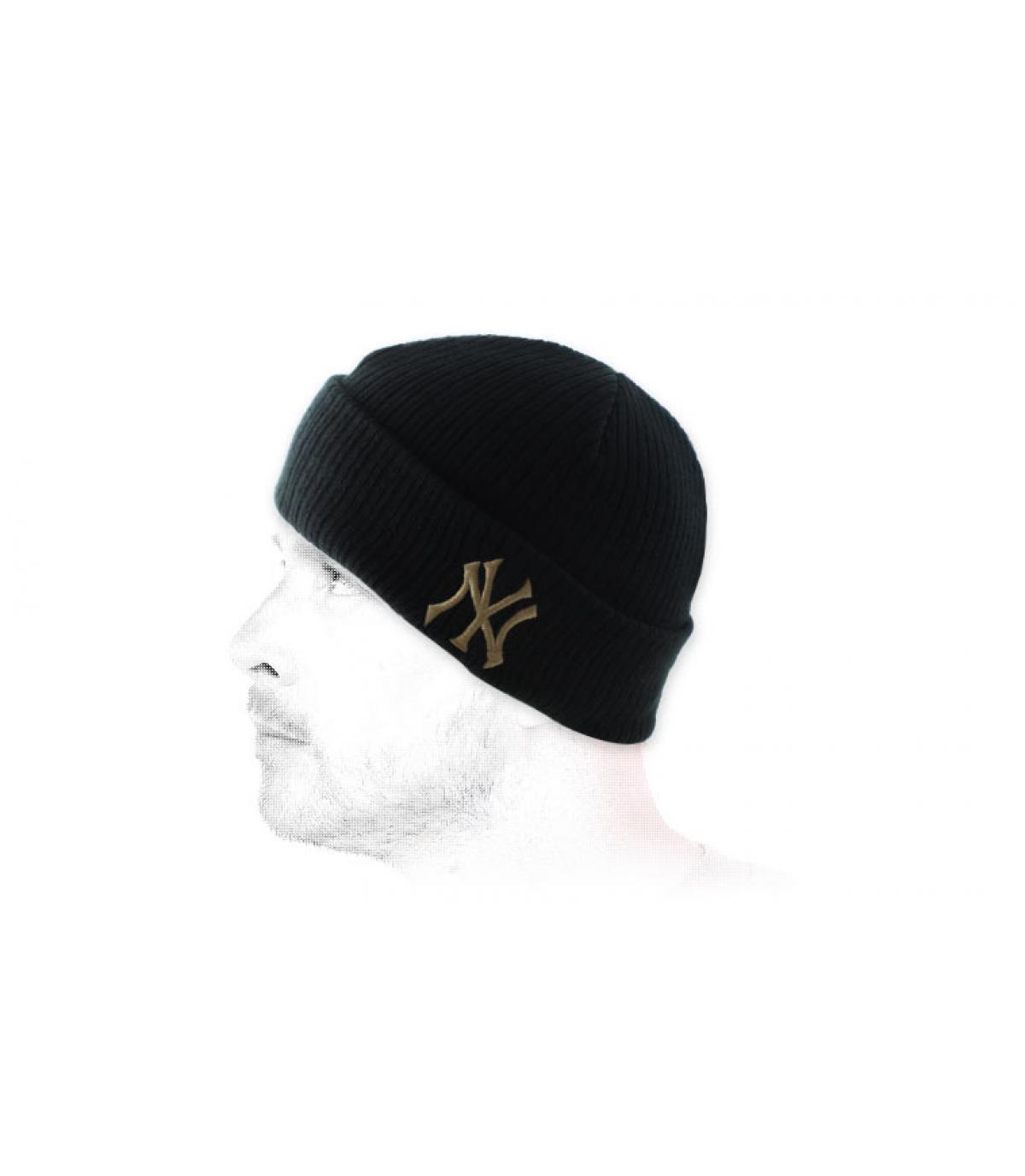 bonnet NY noir revers