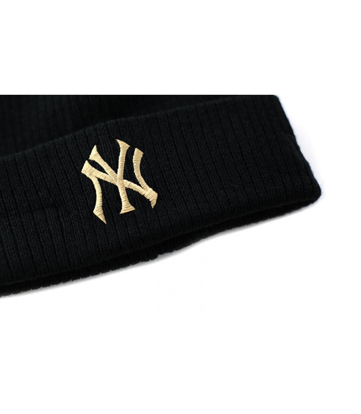 Détails Bonnet Club Coop Knit NY black khaki - image 3