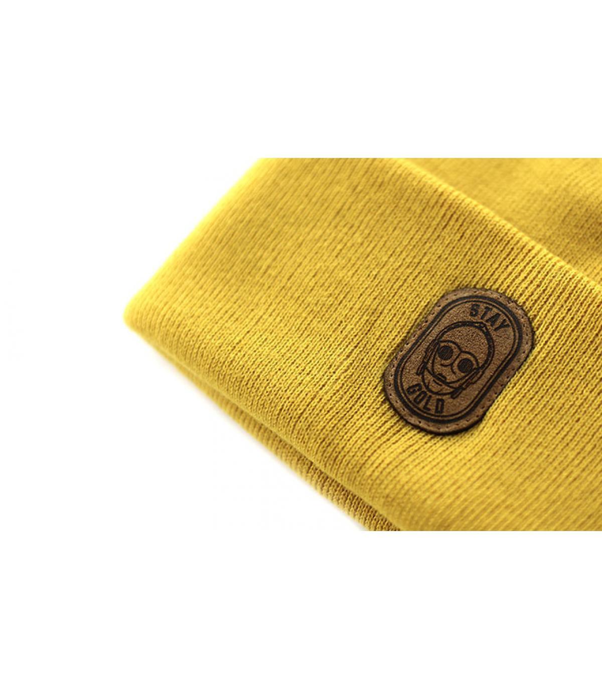 Détails Bonnet Stay Gold mustard - image 3