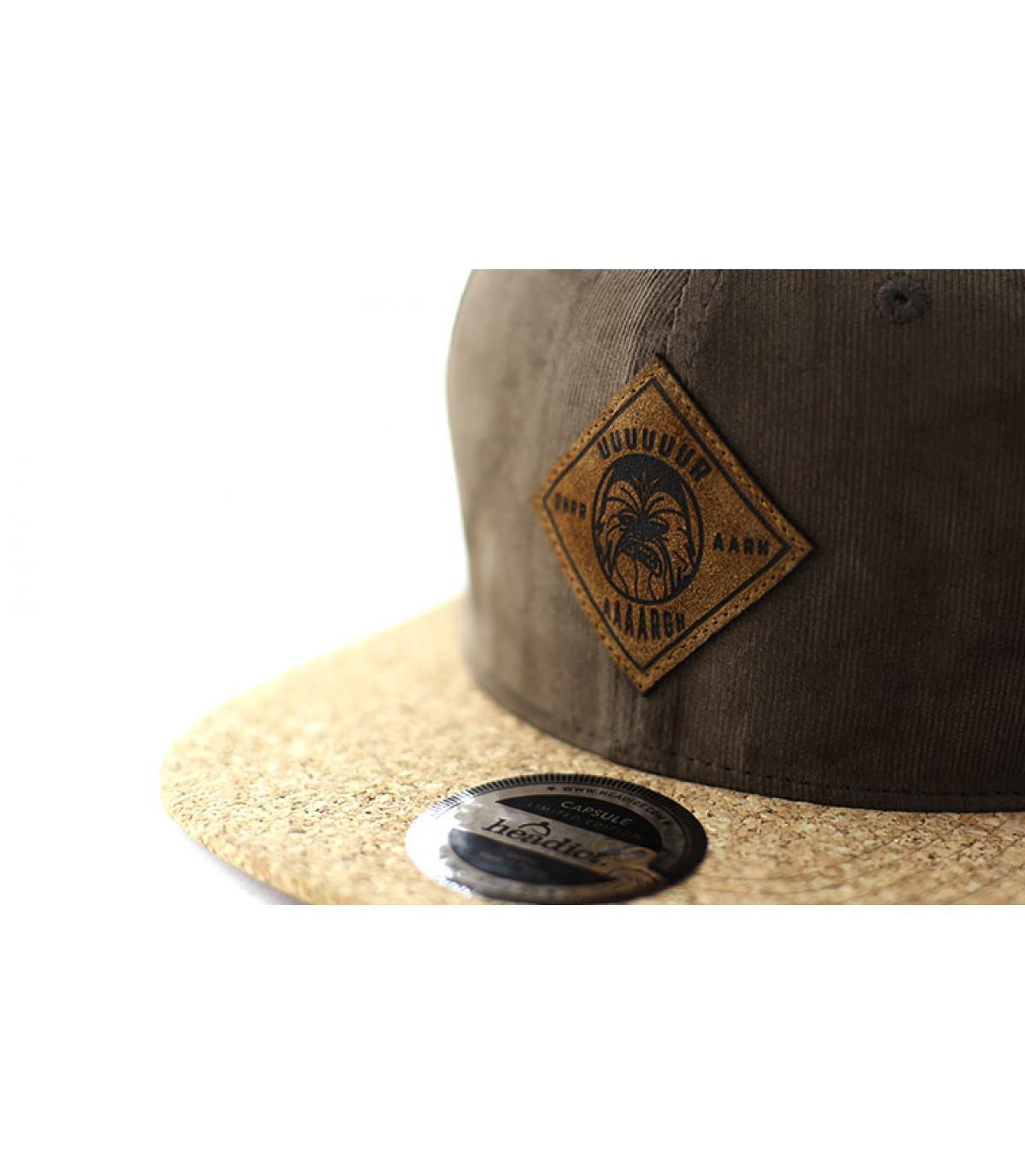 Détails Snapback Aaaargh brown cork - image 3