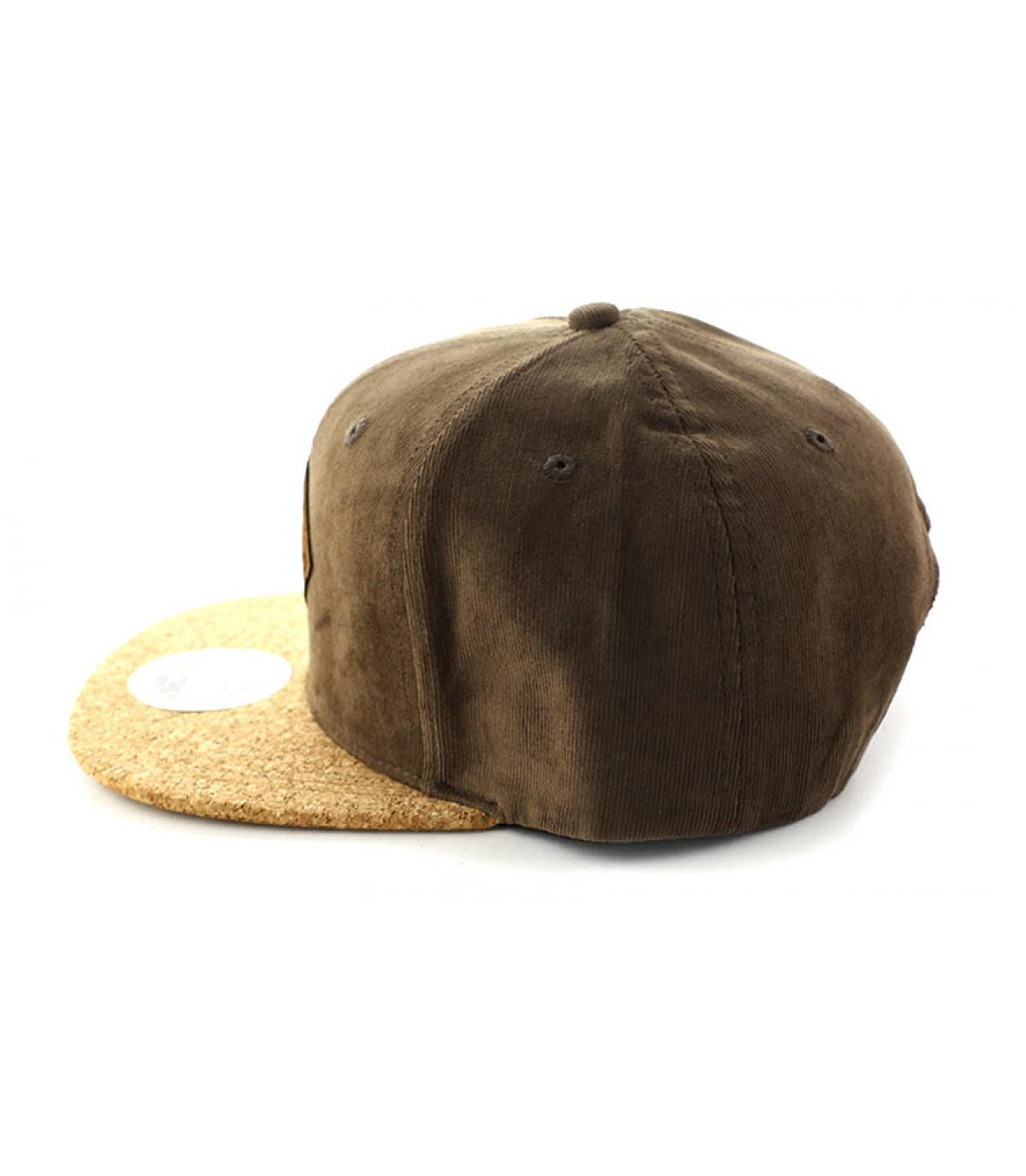Détails Snapback Aaaargh brown cork - image 4