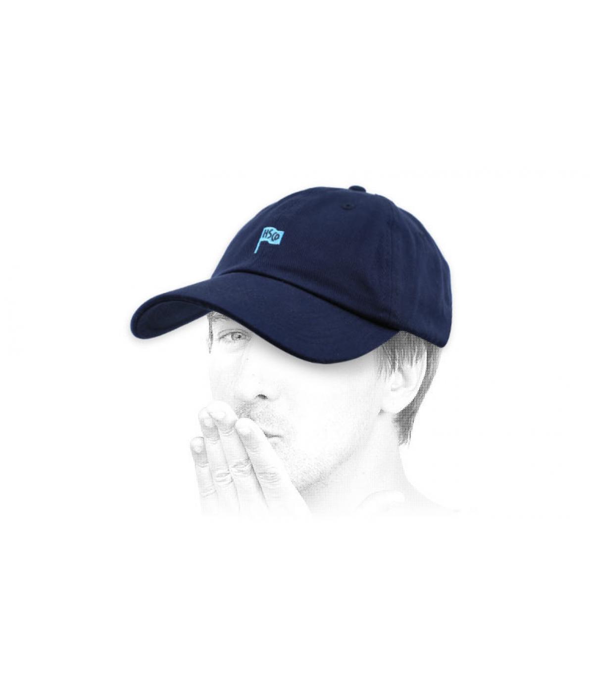 casquette curve Herschel bleu