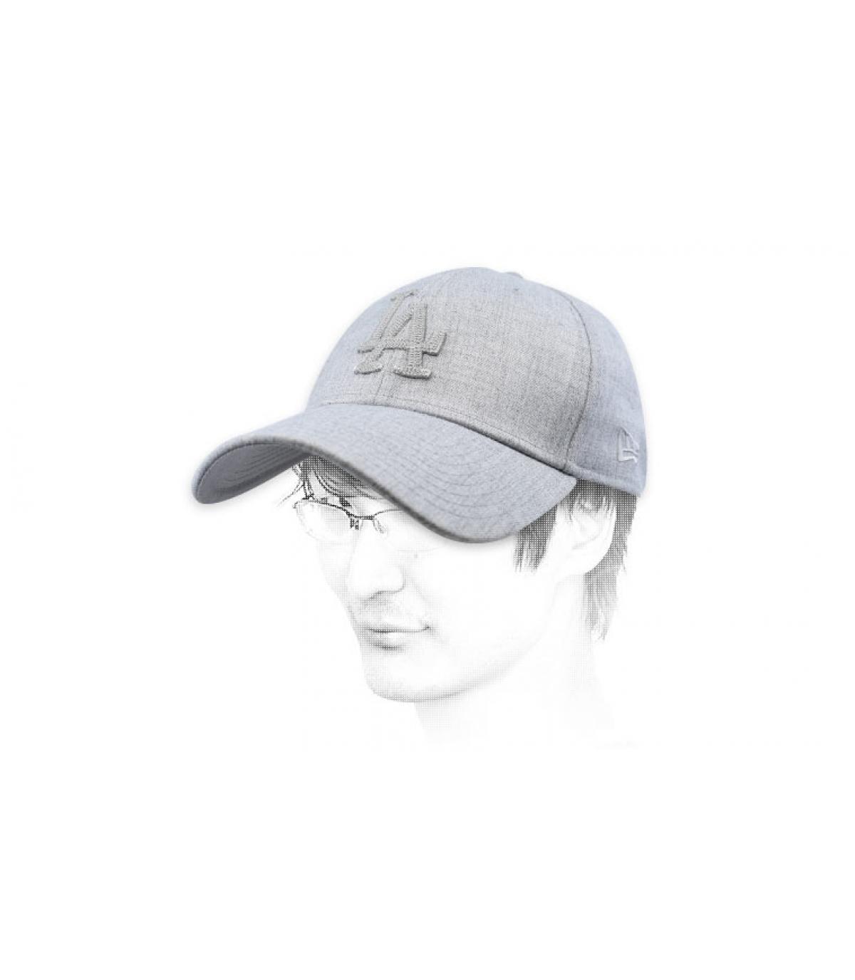 casquette LA gris