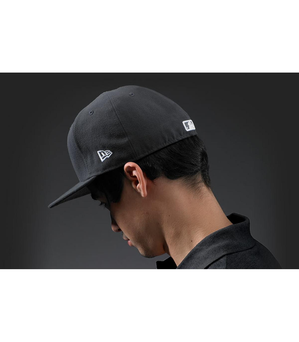 casquette new york grise fonce