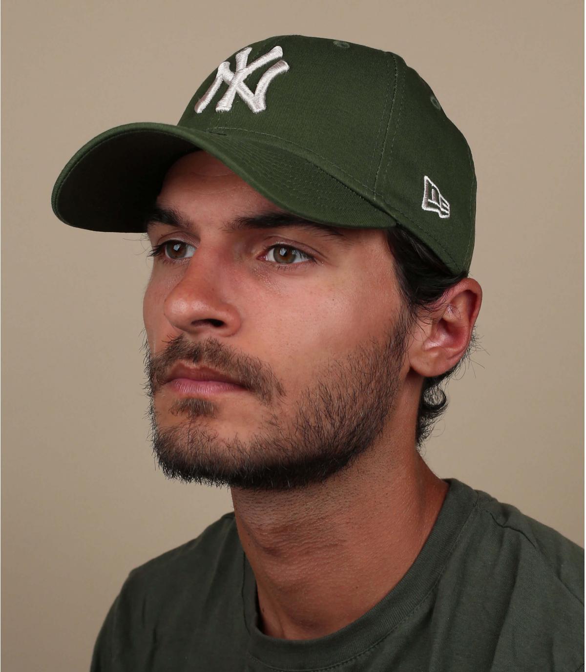 casquette NY vert gris