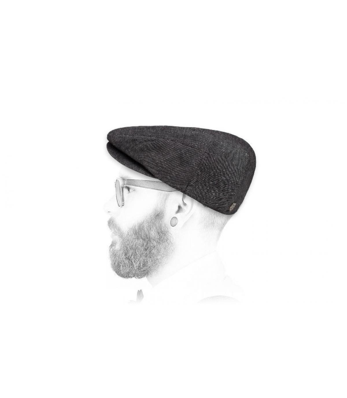 béret lin noir Brixton