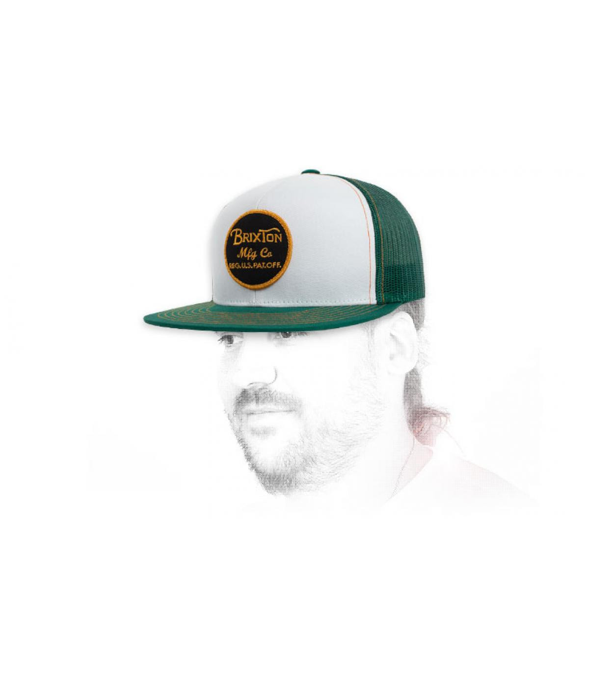 trucker blanc vert Brixton