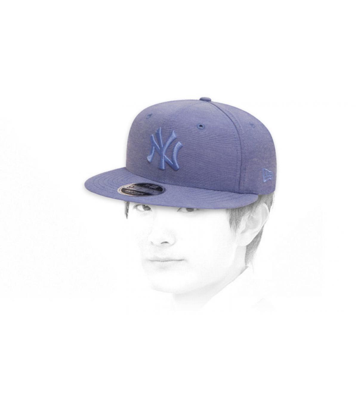 snapback NY bleu ciel