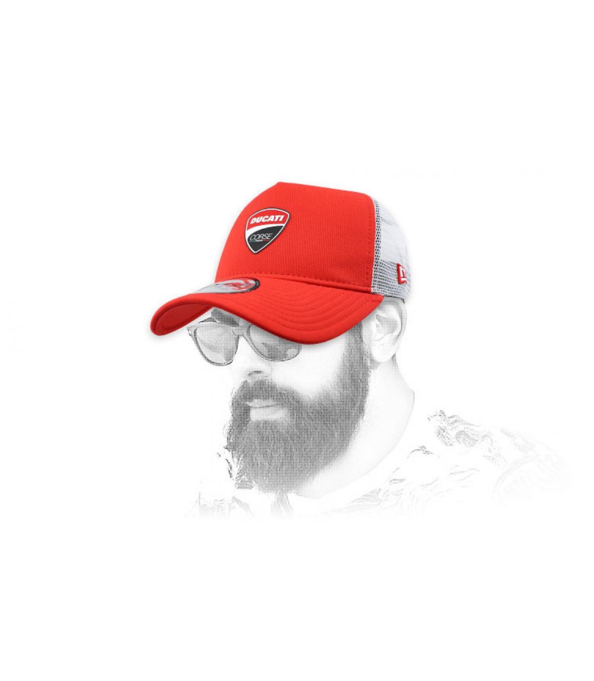 trucker Ducati rouge