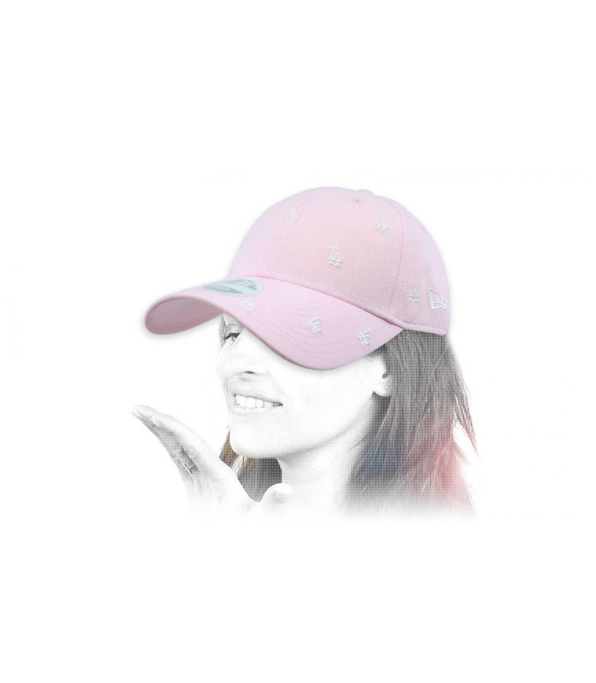 casquette femme LA rose monogramme