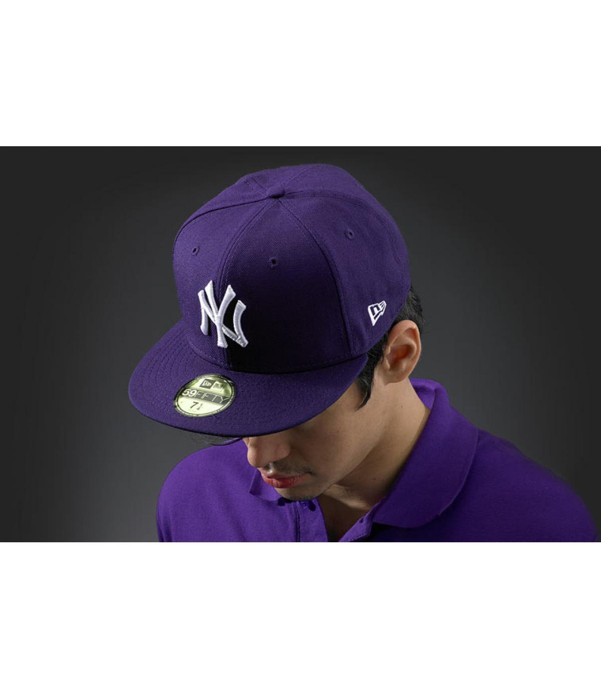 casquette New York violet