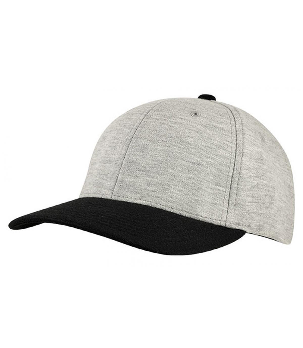 Détails Casquette jersey gris noir - image 2