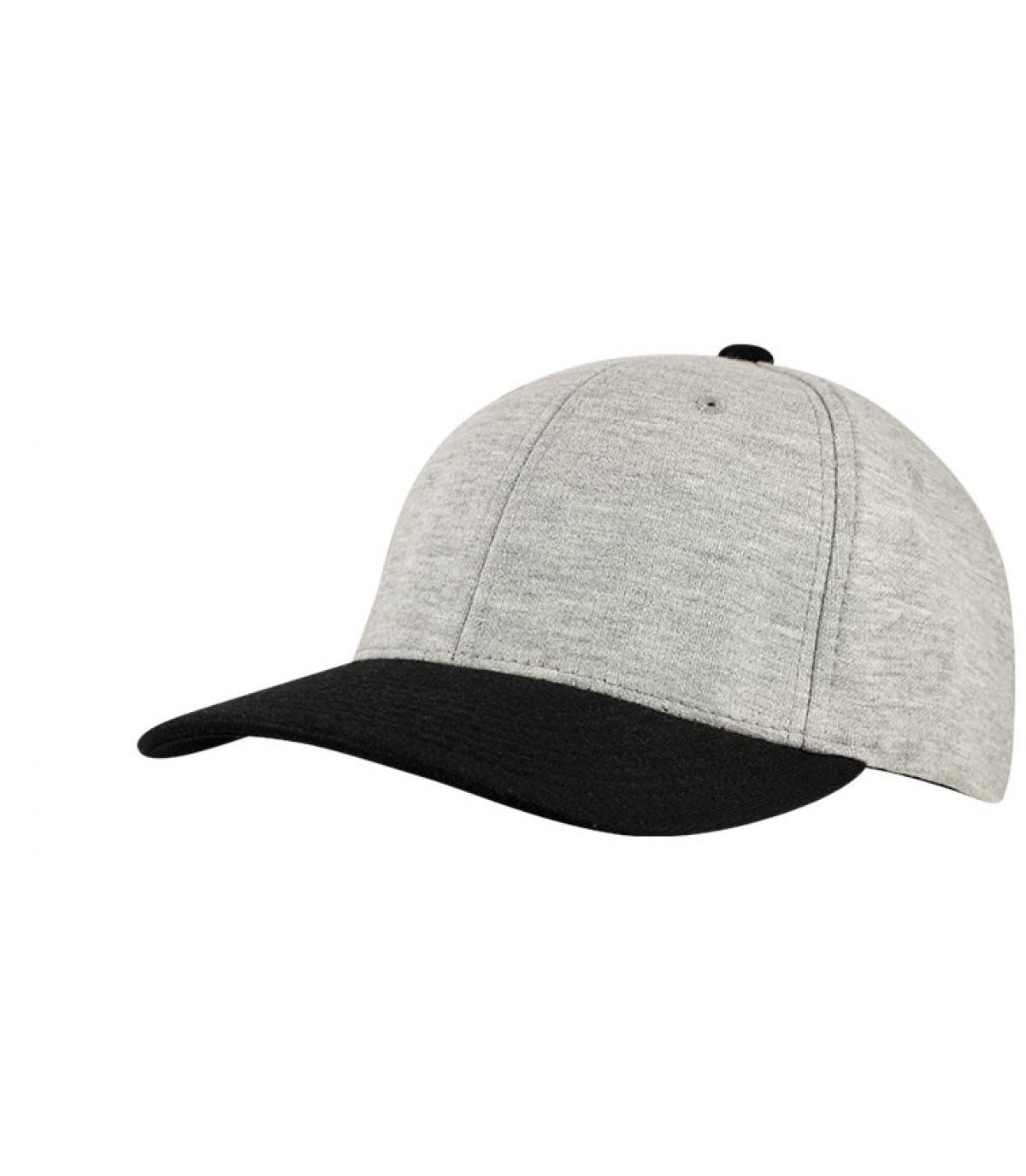 Détails Casquette jersey gris noir - image 3