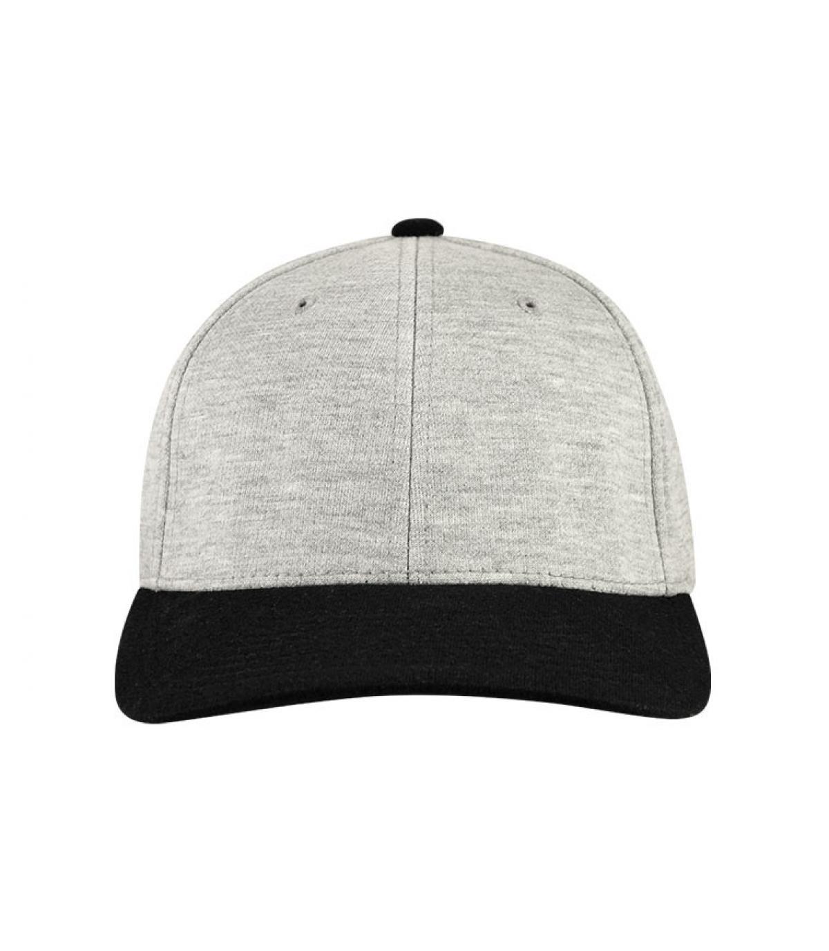 Détails Casquette jersey gris noir - image 5
